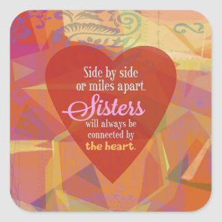 Sister Side-by-Side Square Sticker