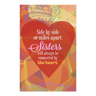 Sister Side-by-Side Stationery