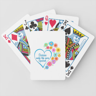 Sister Special Heart Bicycle Playing Cards