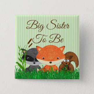 Sister to be Woodland Creature Forest Animals Pin