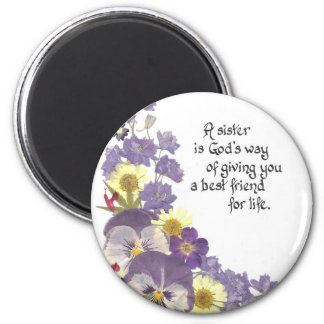 Sister tribute 2 inch round magnet