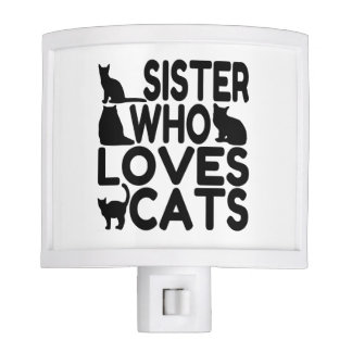 Sister Who Loves Cats Night Lights