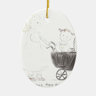 Sisters Are Always There To Pull You Through Ceramic Ornament