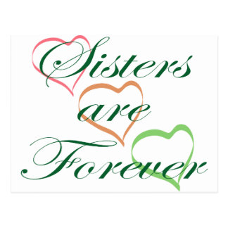 Sisters are Forever Postcard