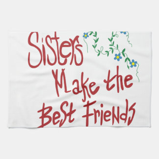 Sisters Best Friends Kitchen Towel