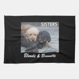 Sisters - Blonde & Brunette Kitchen Towel