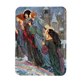Sisters Cross the Bridge With Me, Rectangular Photo Magnet