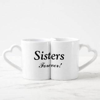 """Sisters Forever"" Nesting Mug Set Couple Mugs"