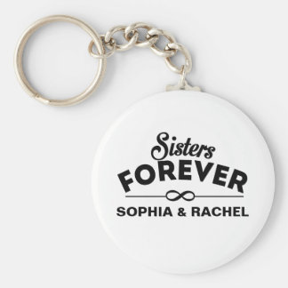 Sisters Forever Template Basic Round Button Keychain