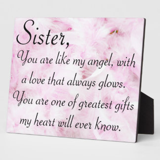 Sisters greatest love plaque