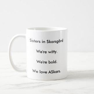 Sisters In Skarsgard Basic White Mug