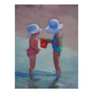 """Sisters in Sun Hats 18""""x24""""Poster Poster"""
