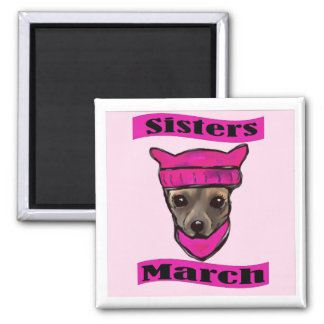 SISTERS MARCH SQUARE MAGNET