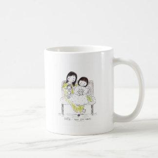 Sisters never grow apart coffee mug