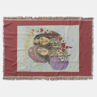 Sisters of the Red Poppy Throw Blanket