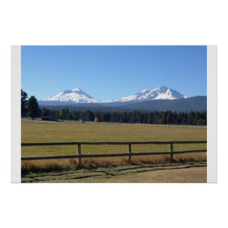 Sisters, Oregon Mountain Range Poster