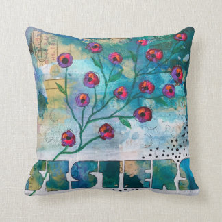 SISTERS - Original Floral Painting on a Pillow