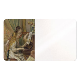 Sisters Playing the Piano Business Card