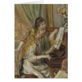 Sisters Playing the Piano Card