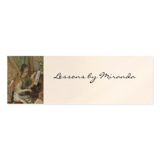 Sisters Playing the Piano Mini Business Card