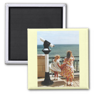 Sisters Square Magnet
