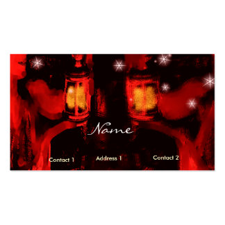 sisters with lamp business card template