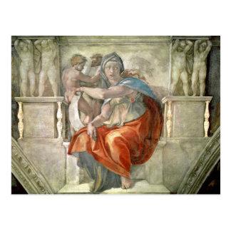 Sistine Chapel Ceiling: Delphic Sibyl Postcard