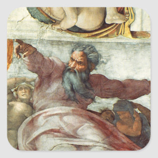 Sistine Chapel Ceiling Square Sticker