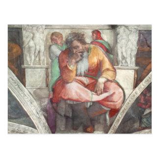 Sistine Chapel Ceiling: The Prophet Jeremiah Postcard