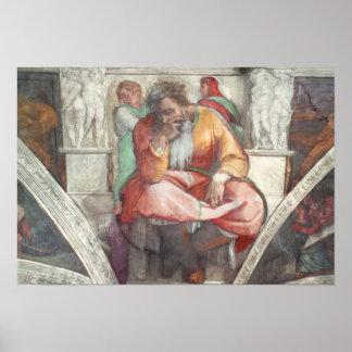 Sistine Chapel Ceiling: The Prophet Jeremiah Poster