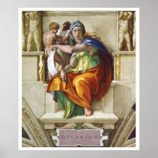 Sistine Chapel - Delphic Sybil Poster