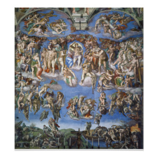 Sistine Chapel - Last Judgement Poster