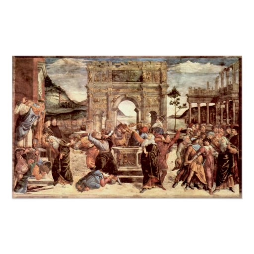 Sistine Chapel - Punishments of the Levites Posters