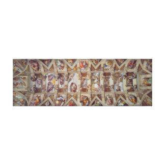 Sistine Chapel, The Last Judgment, Michelangelo Canvas Print