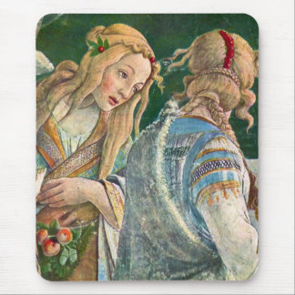 Sistine Chapel -The youth of Moses Mouse Pad