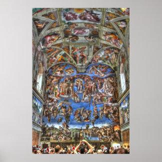 Sistine Chapel, Vatican City, Rome, Italy Poster