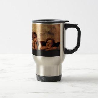 Sistine Madonna 2 Angels by Raphael Stainless Steel Travel Mug