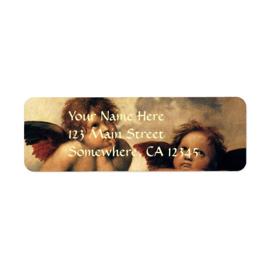 Sistine Madonna, Angels detail by Raphael Return Address Label