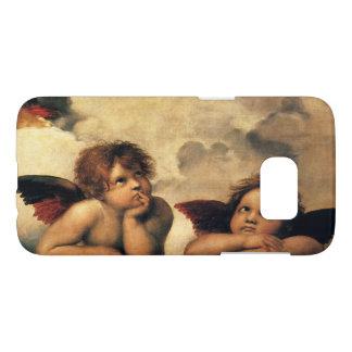 Sistine Madonna, Angels detail by Raphael Samsung Galaxy S7 Case