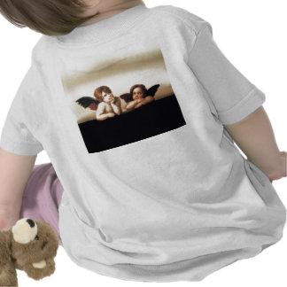 Sistine Madonna Cherubs Thinking Tee Shirts