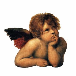 Sistine Madonna, détail d'anges par Raphael Ornement Photo Sculpture