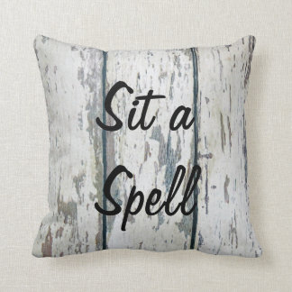 Sit A Spell Throw Pillow