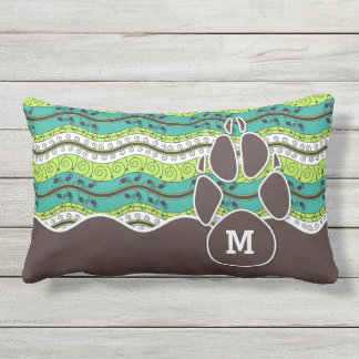 Sit and Stay Monogrammed Dog Lover Lumbar Pillow