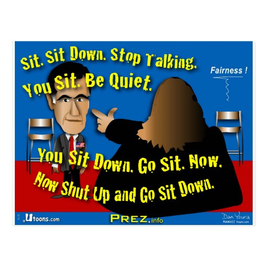Sit Down. Shut Up. Postcard