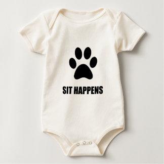 Sit happens Dog Baby Bodysuit