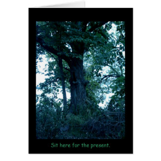Sit Here Tree Card