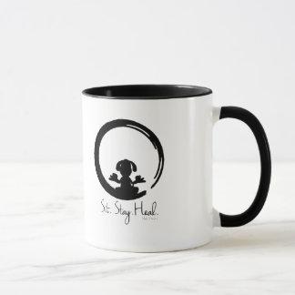 Sit. Stay. Heal. Dog Meditation Mug Special Pose