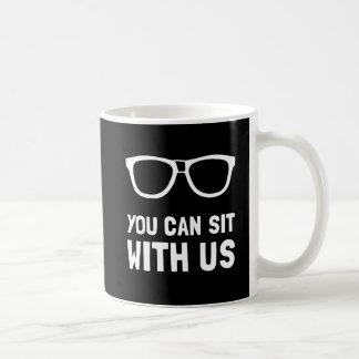 Sit With Us Basic White Mug