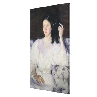Sita and Sarita, or Young Girl with a Cat Canvas Print