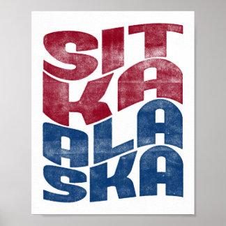 Sitka Alaska Poster City State Art Print